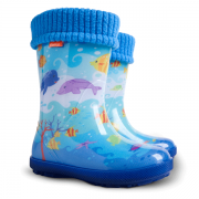 Детские резиновые сапоги Demar HAWAI LUX EXCLUSIVE EG ( океан )