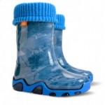 Детские резиновые сапоги STORMER LUX PRINT ac ( стормер джинс стар )