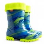 Детские резиновые сапоги TWISTER LUX FLUO d ( мозаика голубо-желтая )