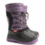 Детские зимние сапоги SAMANTA (B) фиолетово-черные