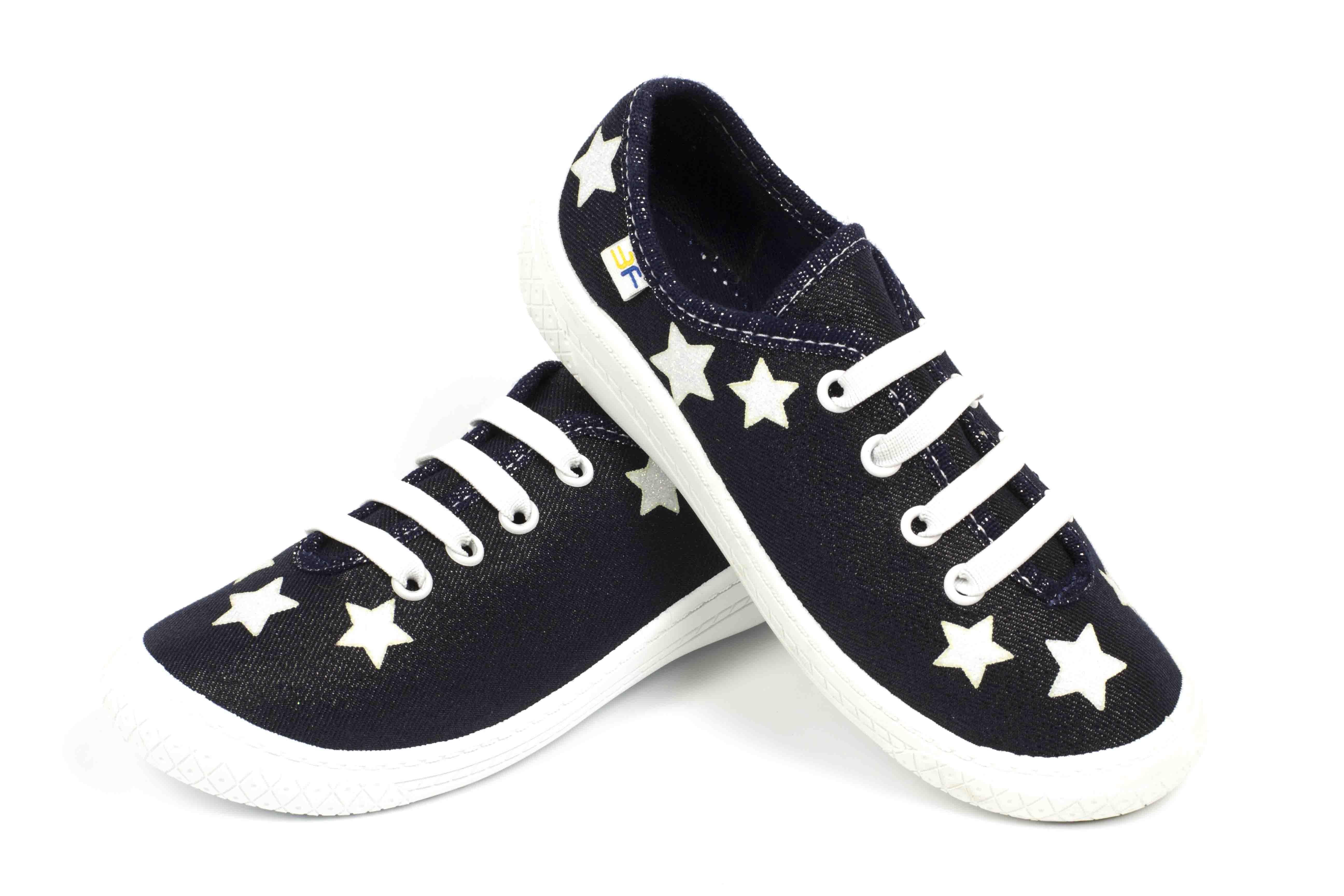 синие польские кеды со звездочками